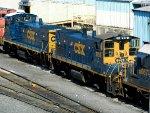 CSXT EMD MP15AC's 1194 & 1151