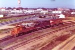 Mixed EMD ICG power for outbound freight