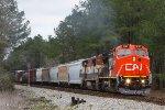 CN (former BNSF/ATSF 851) C40-8W 2187