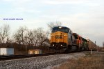 Ex-Conrail now CSX Dash 8 7380 leads Q235 south at milepost 111.33