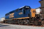 CSX GP40-2 6066 awaits the next days work in Memphis Jct. Yard