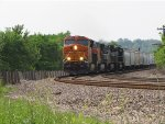 BNSF 6675 heads east with some nice power.