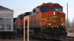 BNSF 4150 rips west with a hot z train.