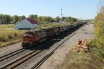 BNSF 792 heads east with a freight in tow.