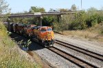 BNSF 4062 leads a grain train westbound from the lookout point.
