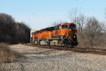 BNSF 1053 leads a eastbound stacker.
