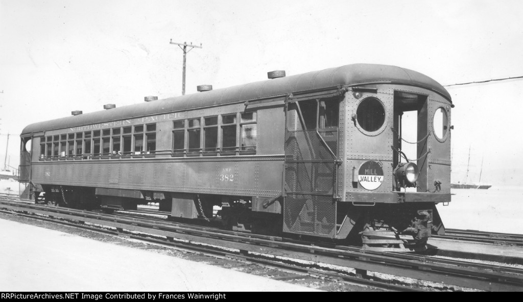 NORTHWESTERN PACIFIC R.R. ELECTRIC CAR MILL VALLEY NWP 382