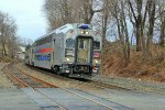 New Jersey Transit Bi-Level Train 5742 Led By Cab Car #7004