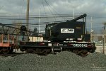 Conrail (NS) 93042 American Crane with boom car NS 992221 at rest on a Maintenance of Way stub track, Wauseon, Ohio