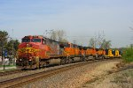 Southbound BNSF Mixed Freight Train