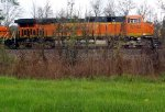 2-15-12 BNSF 6762 ES44C 4 axel on Honea Siding near