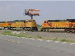 BNSF 9996 & BNSF 4987 Meet In Old Monroe