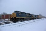 CSX 956 eb in the snow
