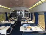 Interior Amtrak Diner 8550