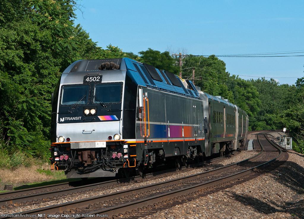 NJT 4502 on train 1357.