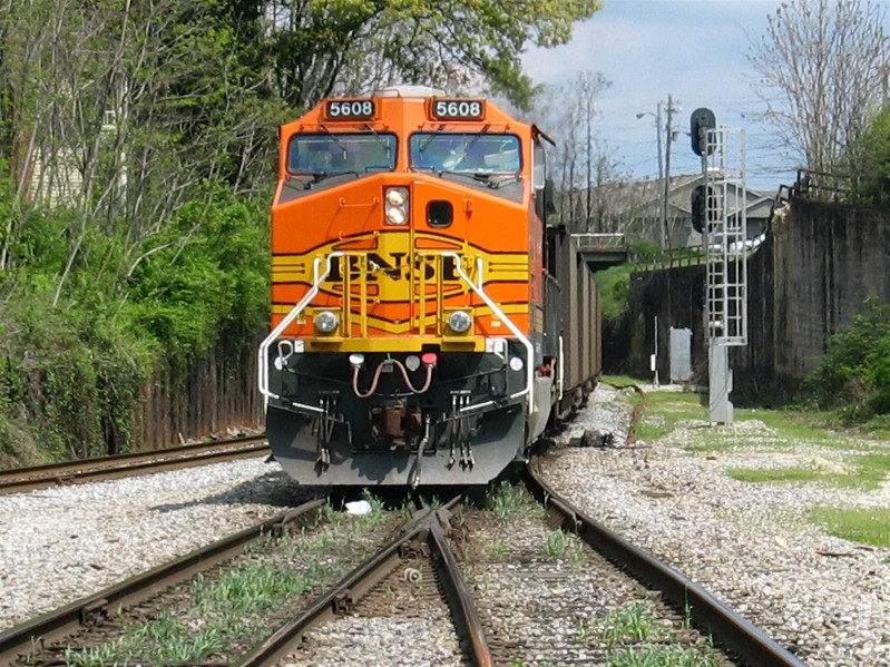 BNSF Pushing Coal Train East