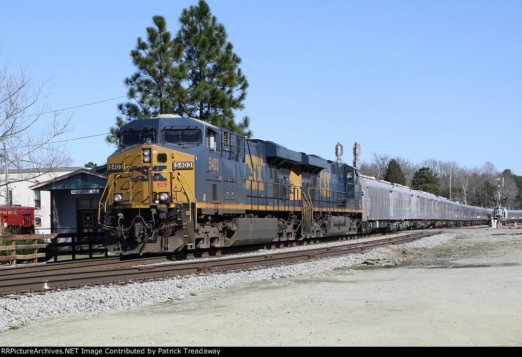 CSXT P921-13 RBB&B train