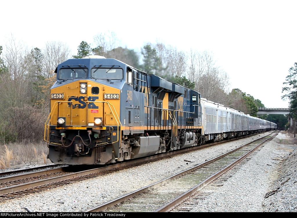 CSXT P921-13 RBB&B circus train