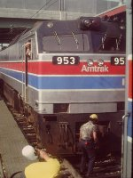 Amtrak E60C with Car Department - Union Station