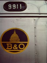B&O RDC-1 #9911 emblem - Washington DC commuter service - 1977