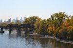 CN 2434 & 5683 crossing the Mississippi in Minneapolis