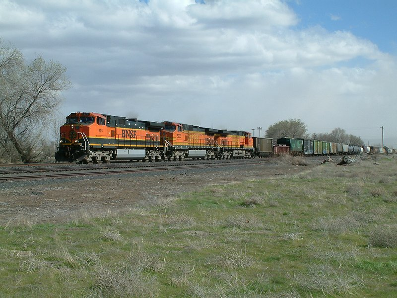Westbound on the NP jointed rail main