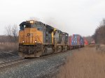 CSX 4849 leads Q161-06 across the countryside