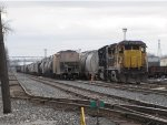 CREX 9042 & CSX 4514 sit in 4 Track cut away from their inbound train