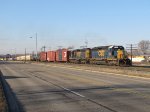 CSX 8160 & 8324 roll east on Track 1 with Q326-16