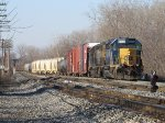 Q326 rolls into the Even Lead as it arrives at Wyoming Yard