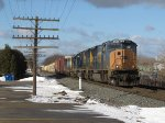 CSX 4708 leads Q326-17 east on a crisp winter morning