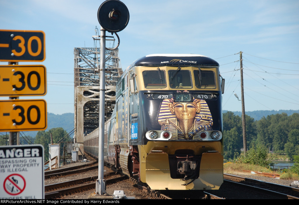 AMTRAK CASCADE #470 KING TUT