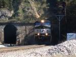 Hopper Train Q55 heads west