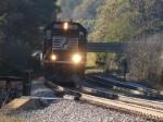 Train 29M, empty auto racks drifts downgrade