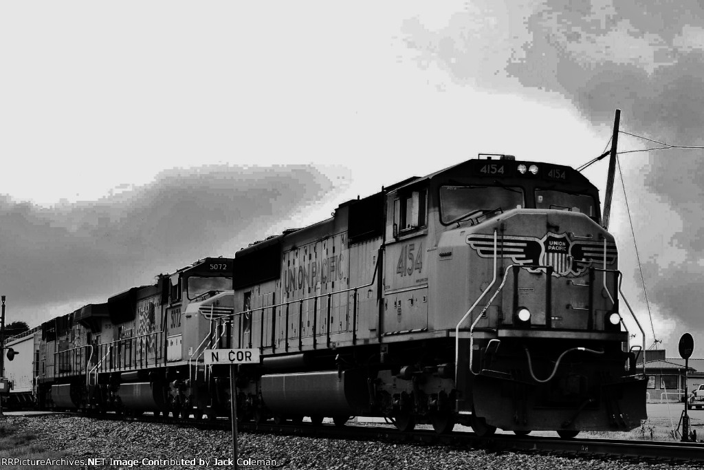 UP 4154 at the Nucor Switch