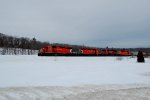 CP extra empty grain return to Montreal from Quebec city.  Only 37 cars