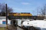 NS 211 on UP 7787 American flag