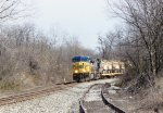 CSX 687 and 7740 on a Military train