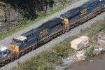 csx stack train north csx 915