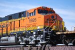 BNSF 6926 up close as she waits to enter the BNSF Barstow yard and swap crews.