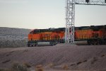 BNSF 6924 holds short off the BNSF Barstow Main Line as she waits clearance from the BNSF High Tower Router to cross the main line to enter the BNSF Barstow Yard.