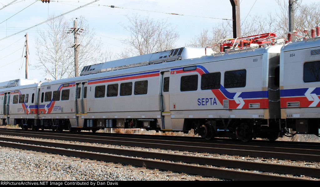 SEPTA Silverliner V 853 on C964-03