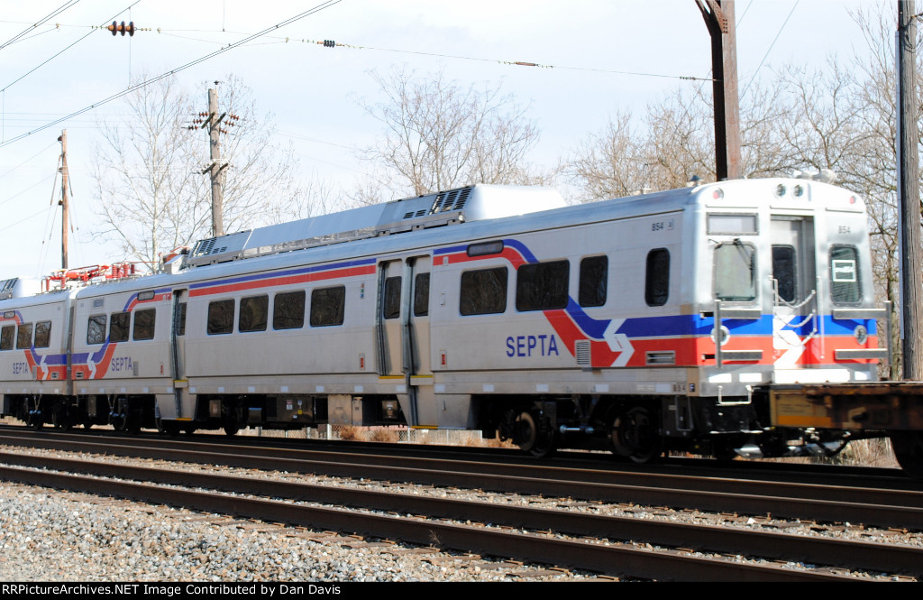 SEPTA Silverliner V 854 on C964-03