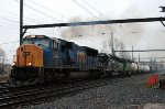 CSX, HLCX and BN Painted EMD power on Q410-28