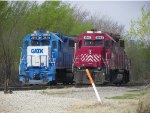 GMTX GP38-2 2610 & HLCX GP38-2 3843