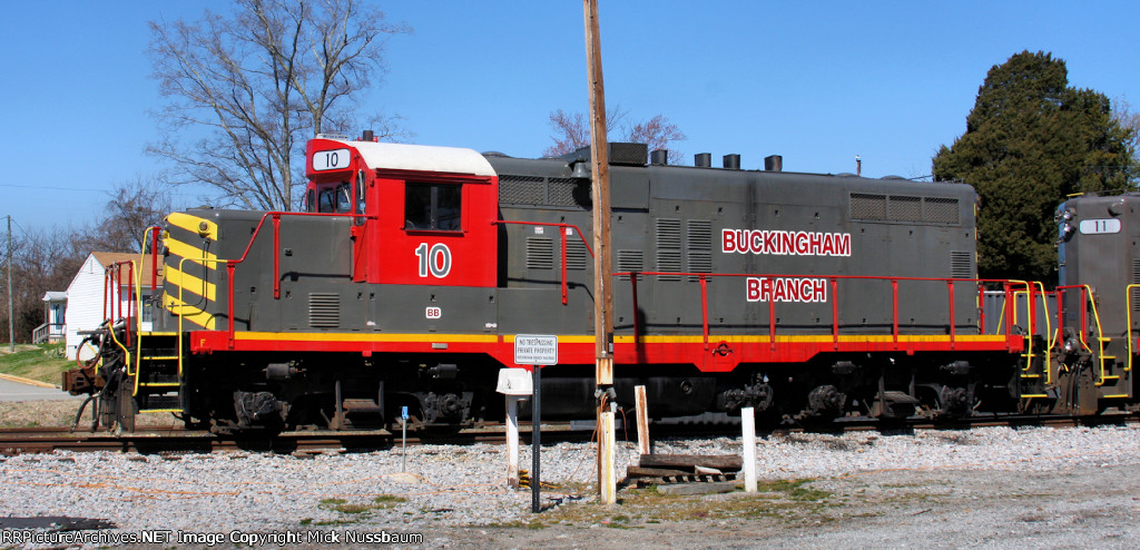 Buckingham Branch #10 on the old Virginia Southern