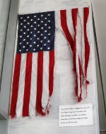 Flag from NS facility in New Orleans during Hurricane Katrina