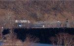 Amtrak Pennsylvanian #43 rounds the curve onto the Rockville Bridge