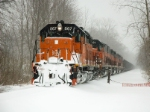 BLE 867 holds at Furnace rd in the snow
