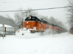 BLE 867 pushes through the snow